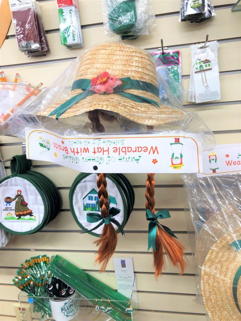 赤毛のアンの三つ編み付き麦わら帽子
